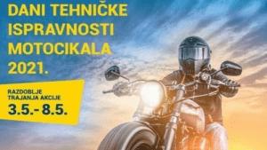 """Sigurnosna akcije: """"Dani tehničke ispravnosti motocikala 2021"""""""