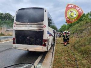 Požar autobusa na Istarskom ipsilonu